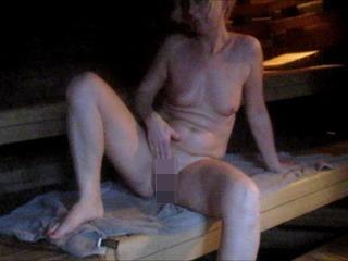 In der Sauna, ein Spanner verfolgt mich