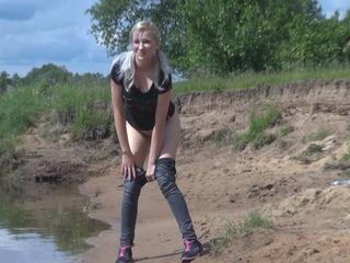 In Fluss gepisst