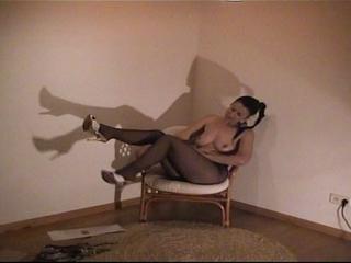 Sexy Fantasie in Nylon-Strumpfhose