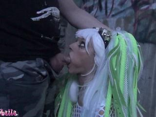 Sexcasting Cyber Goth Girl Porn Pics